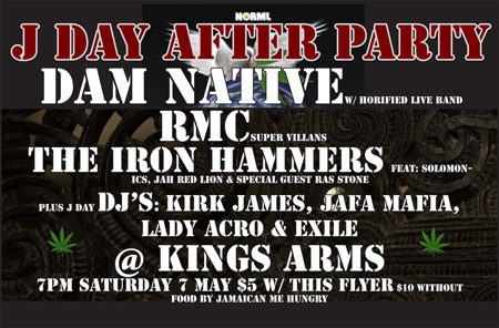 J Day After Party at kings arms