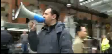 Dude with megaphone