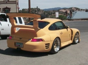 Is that a porsche? This is odd... and ugly