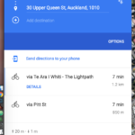 Directions from Upper Queen st to Nelson St via Skypath