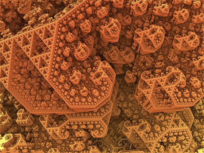 Just a casual 20 megapixel render of an animation frame I'm rendering because it's awesome. This is a Sierpinksi 3D fractal done in Mandelbulb3d running under Wine on Mac. 5120 x 3840