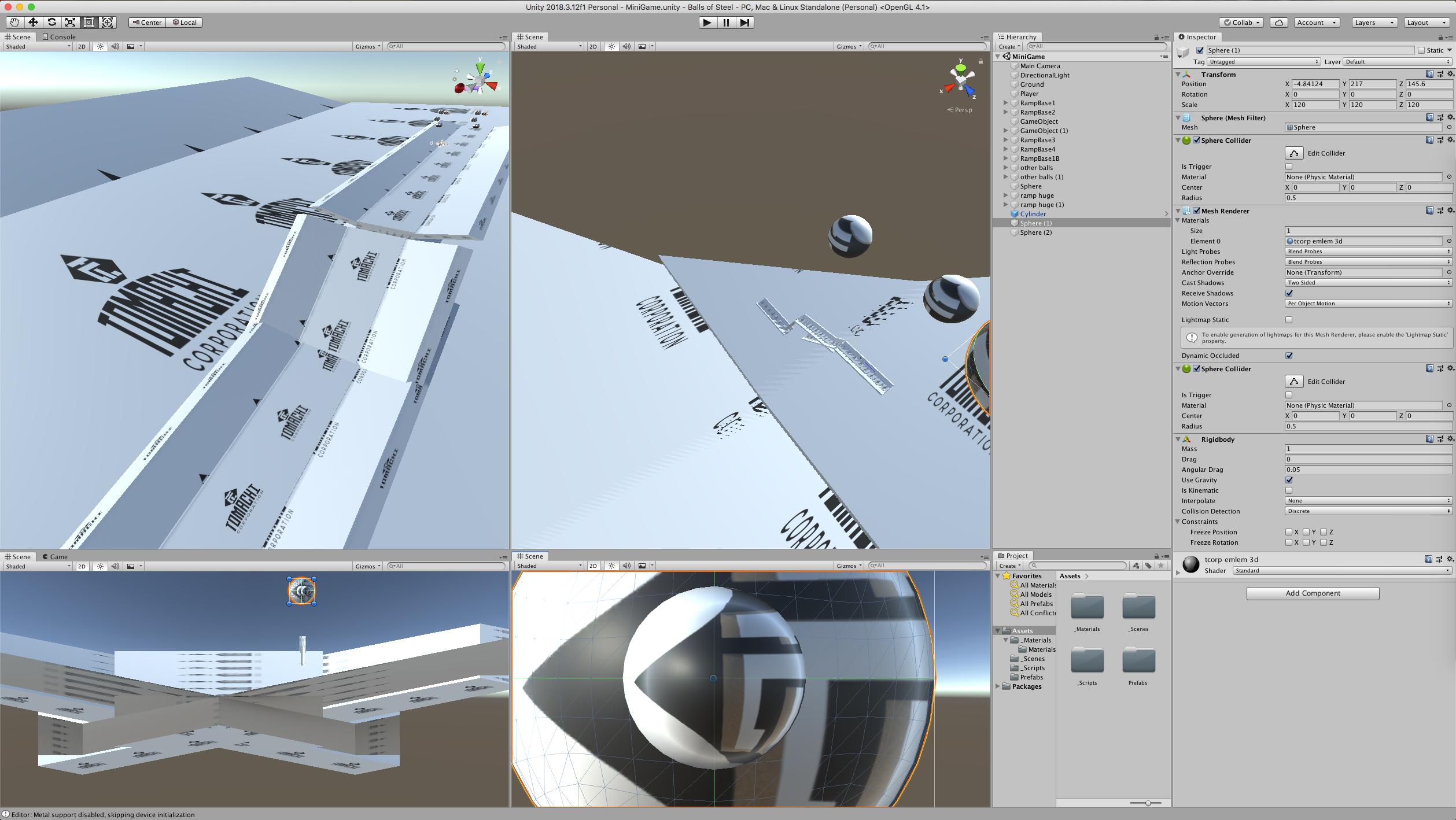 Demo playable WebGL game demo